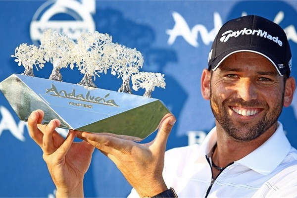 Sergio Garcia with Andalucia Masters trophy