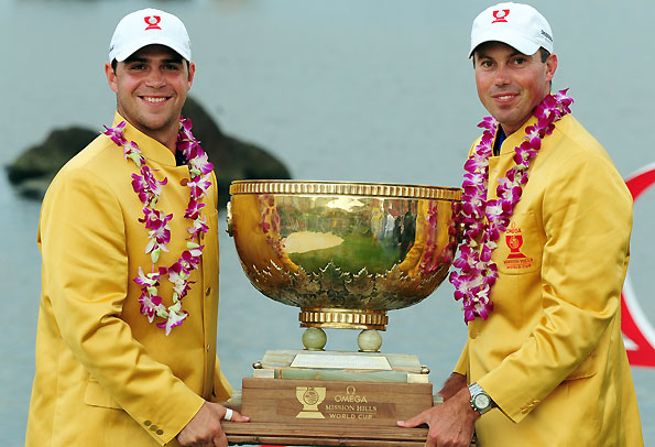 Gary Woodland and Matt Kuchar, Omega World Cup champs