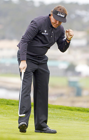 Phil Mickelson wins AT&T Pebble Beach Pro-Am
